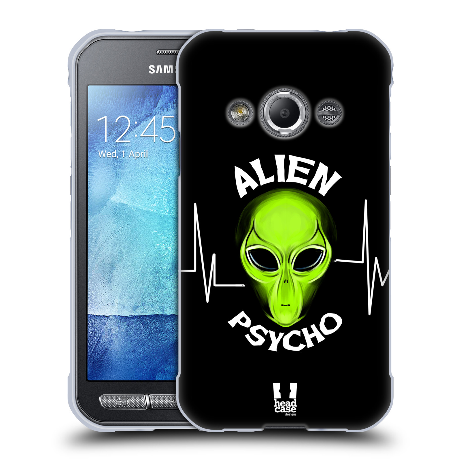 Silikonové pouzdro na mobil Samsung Galaxy Xcover 3 HEAD CASE ALIENS PSYCHO