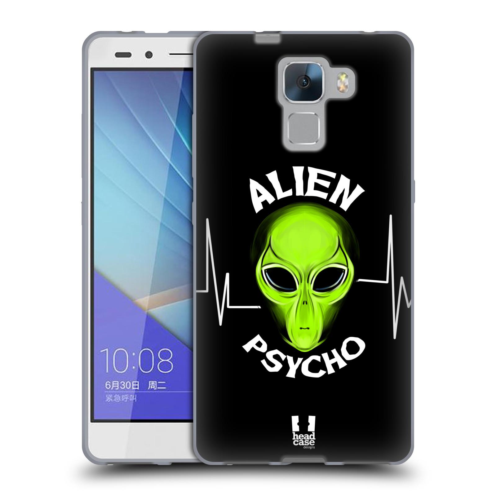 Silikonové pouzdro na mobil Honor 7 HEAD CASE ALIENS PSYCHO