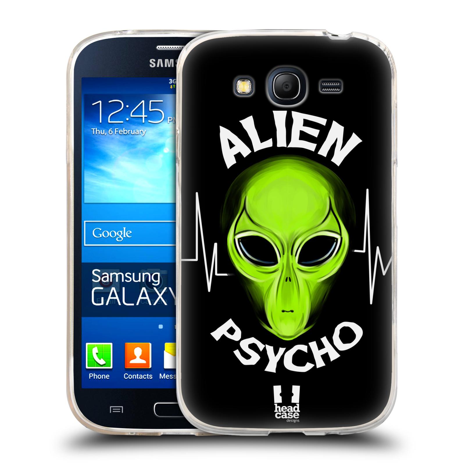 Silikonové pouzdro na mobil Samsung Galaxy Grand Neo HEAD CASE ALIENS PSYCHO