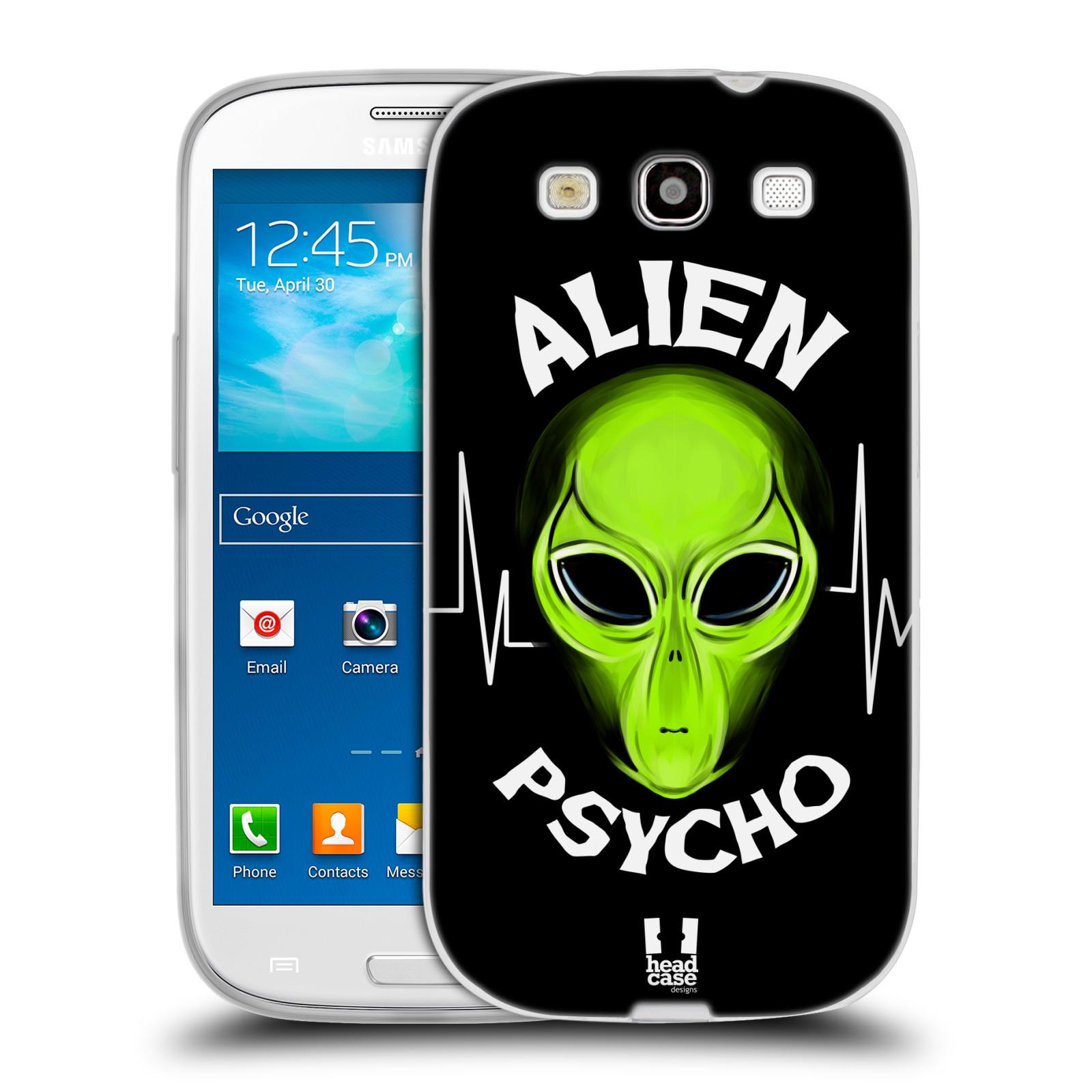 Silikonové pouzdro na mobil Samsung Galaxy S3 Neo HEAD CASE ALIENS PSYCHO