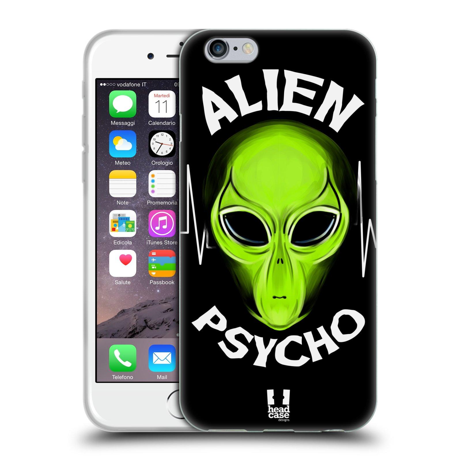 Silikonové pouzdro na mobil Apple iPhone 6 a 6S HEAD CASE ALIENS PSYCHO