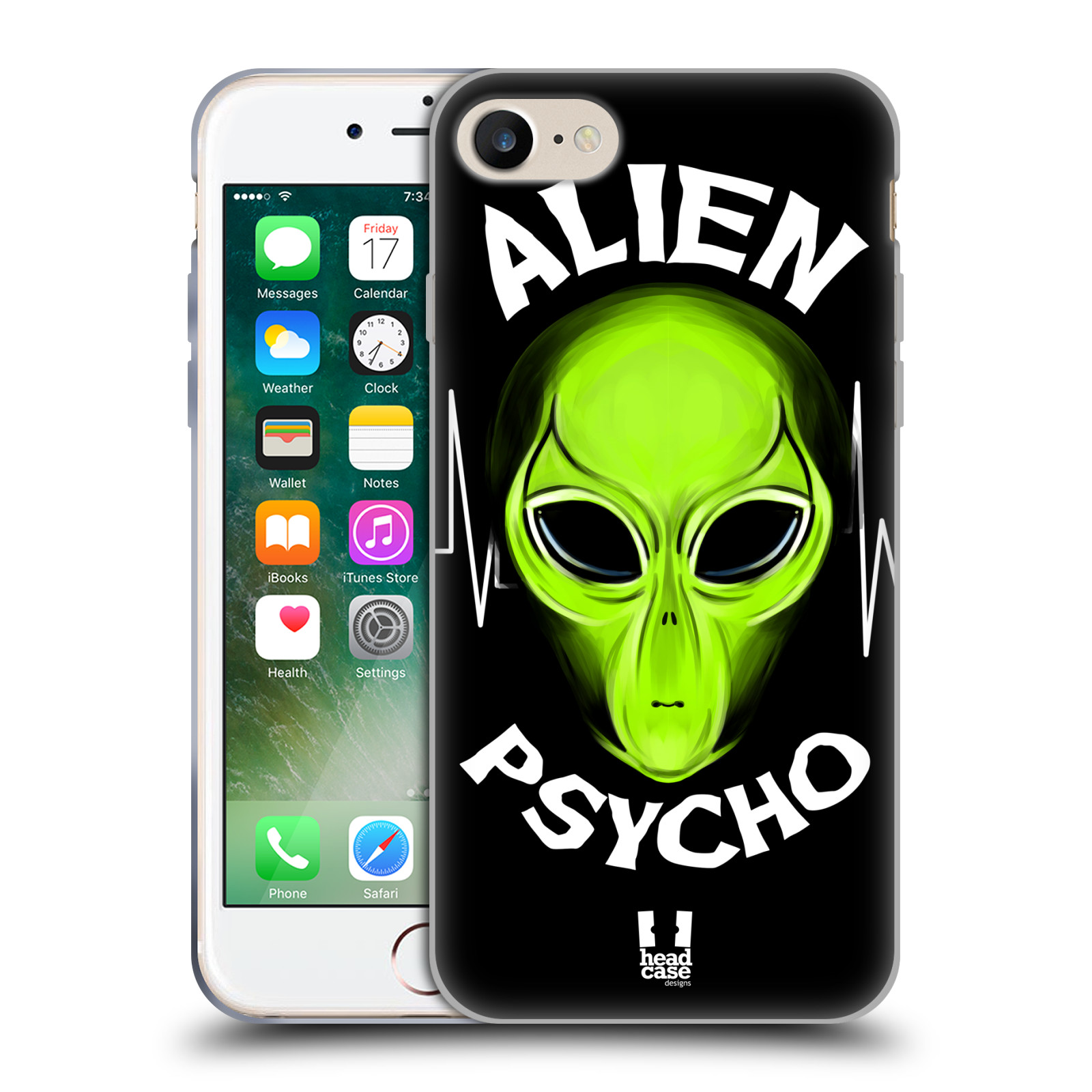 Silikonové pouzdro na mobil Apple iPhone 8 - Head Case - ALIENS PSYCHO