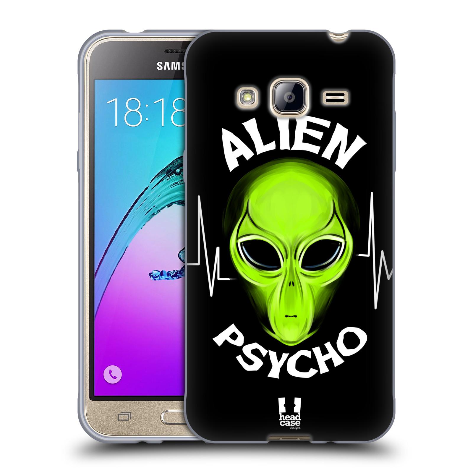 Silikonové pouzdro na mobil Samsung Galaxy J3 (2016) HEAD CASE ALIENS PSYCHO