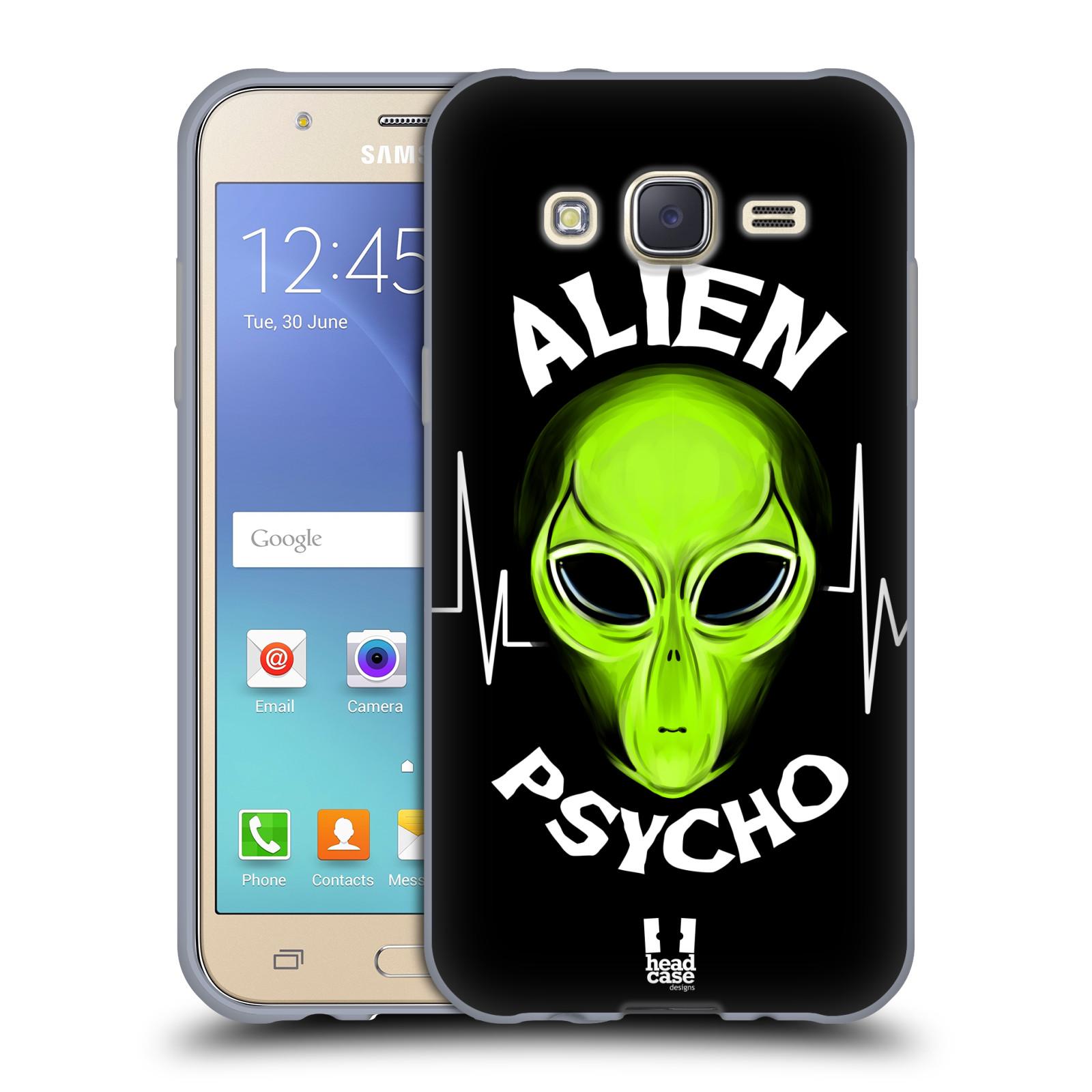 Silikonové pouzdro na mobil Samsung Galaxy J5 HEAD CASE ALIENS PSYCHO