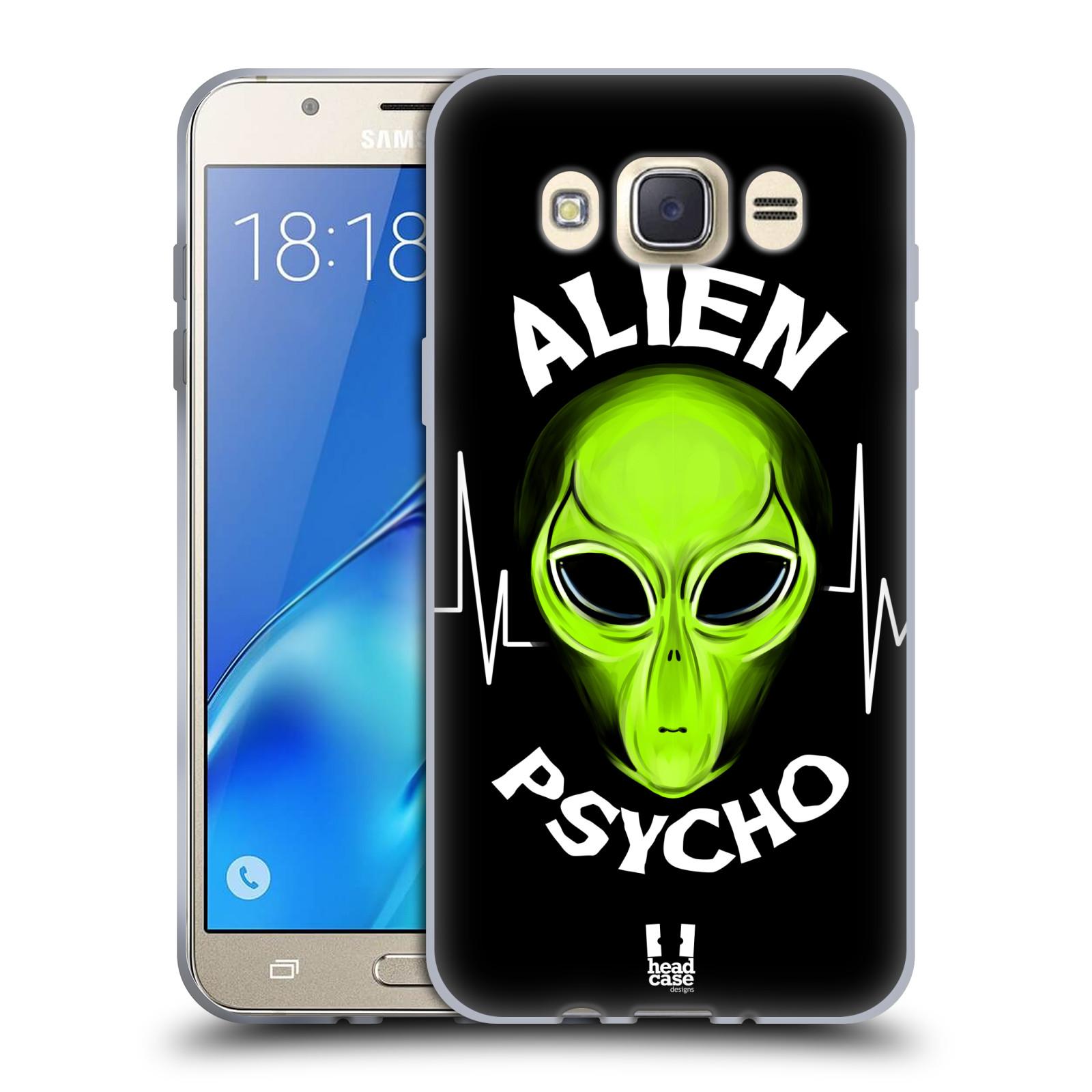 Silikonové pouzdro na mobil Samsung Galaxy J7 (2016) HEAD CASE ALIENS PSYCHO