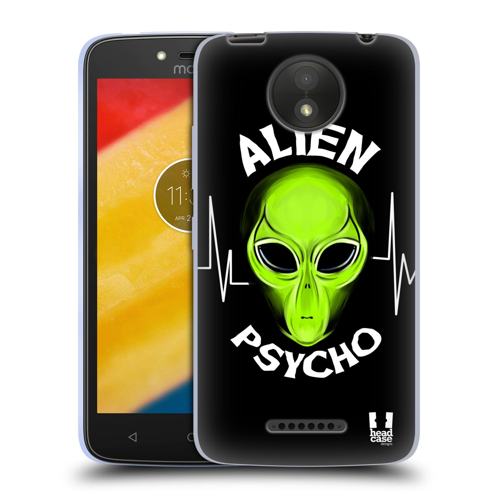 Silikonové pouzdro na mobil Lenovo Moto C Plus - Head Case - ALIENS PSYCHO