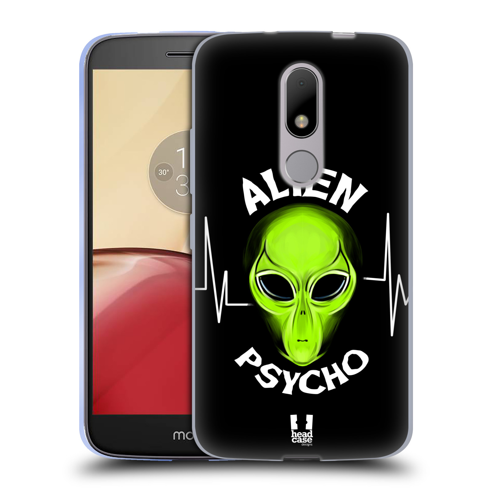 Silikonové pouzdro na mobil Lenovo Moto M - Head Case ALIENS PSYCHO