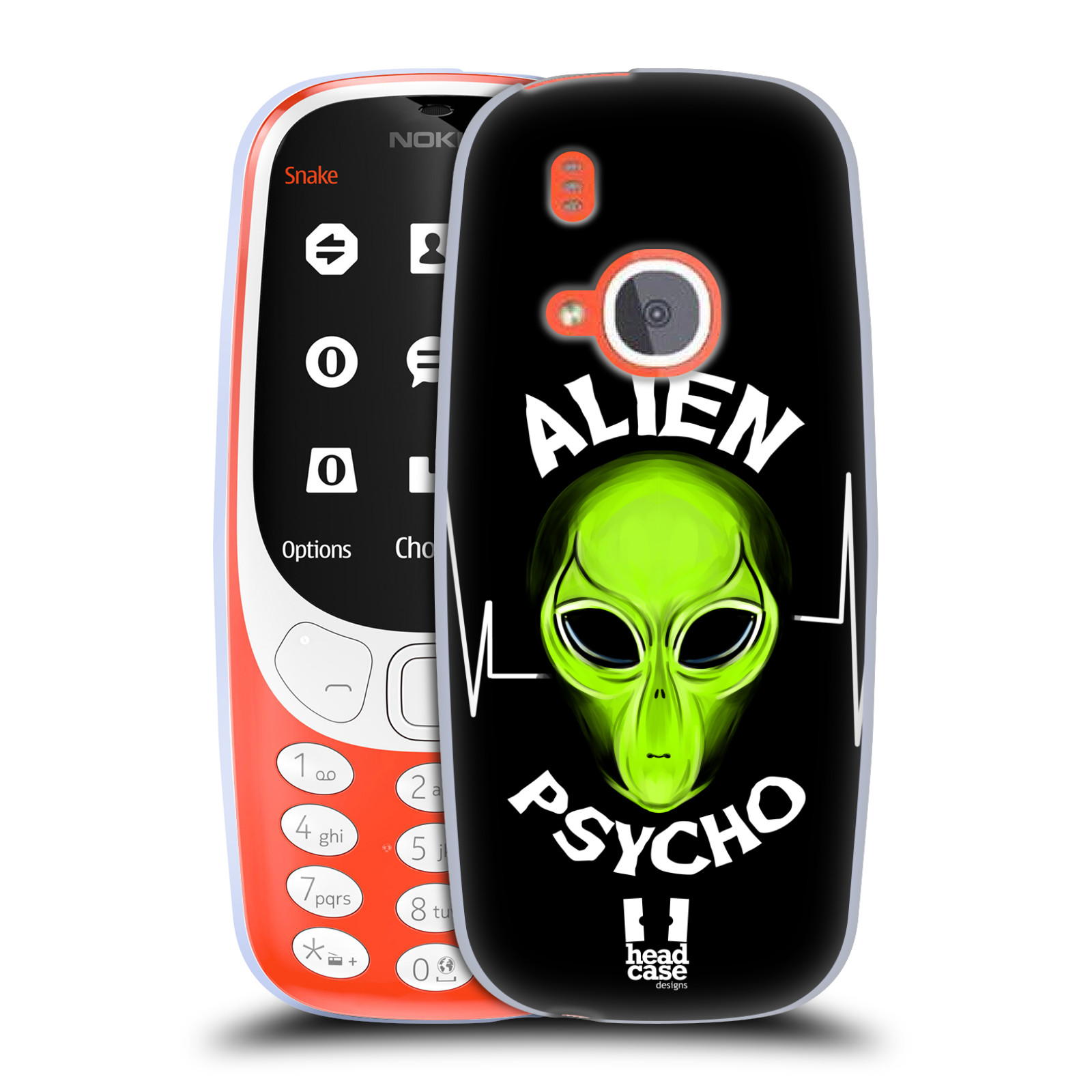 Silikonové pouzdro na mobil Nokia 3310 - Head Case - ALIENS PSYCHO