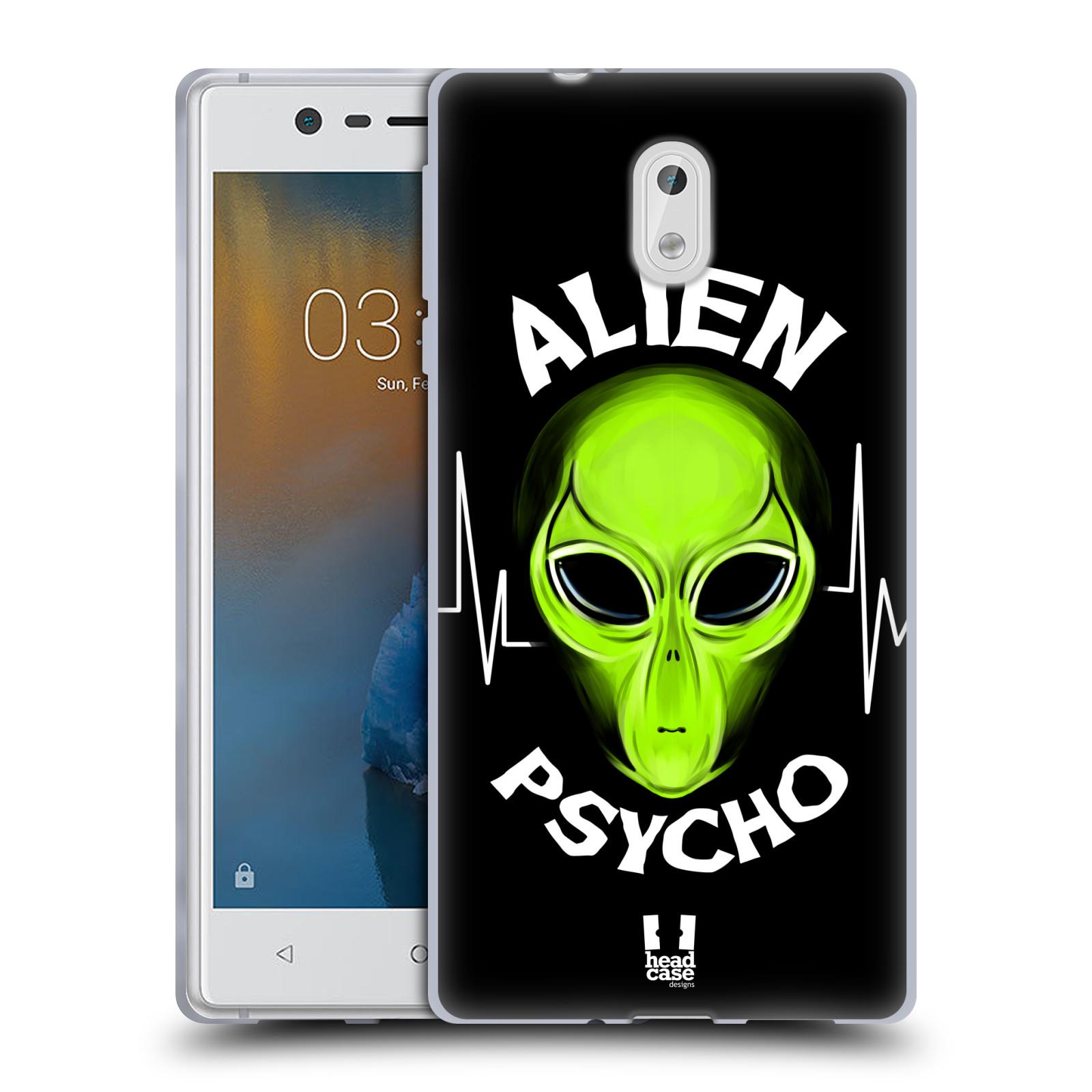 Silikonové pouzdro na mobil Nokia 3 Head Case - ALIENS PSYCHO