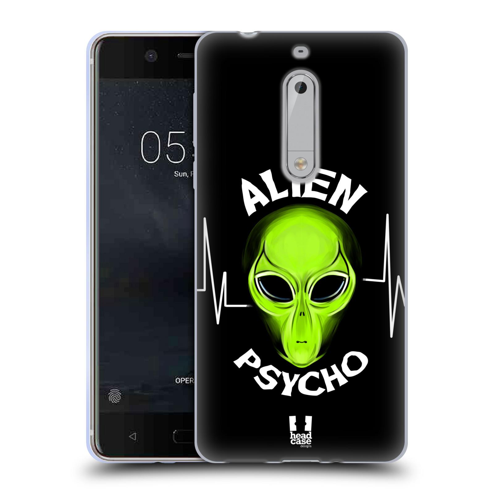 Silikonové pouzdro na mobil Nokia 5 Head Case - ALIENS PSYCHO