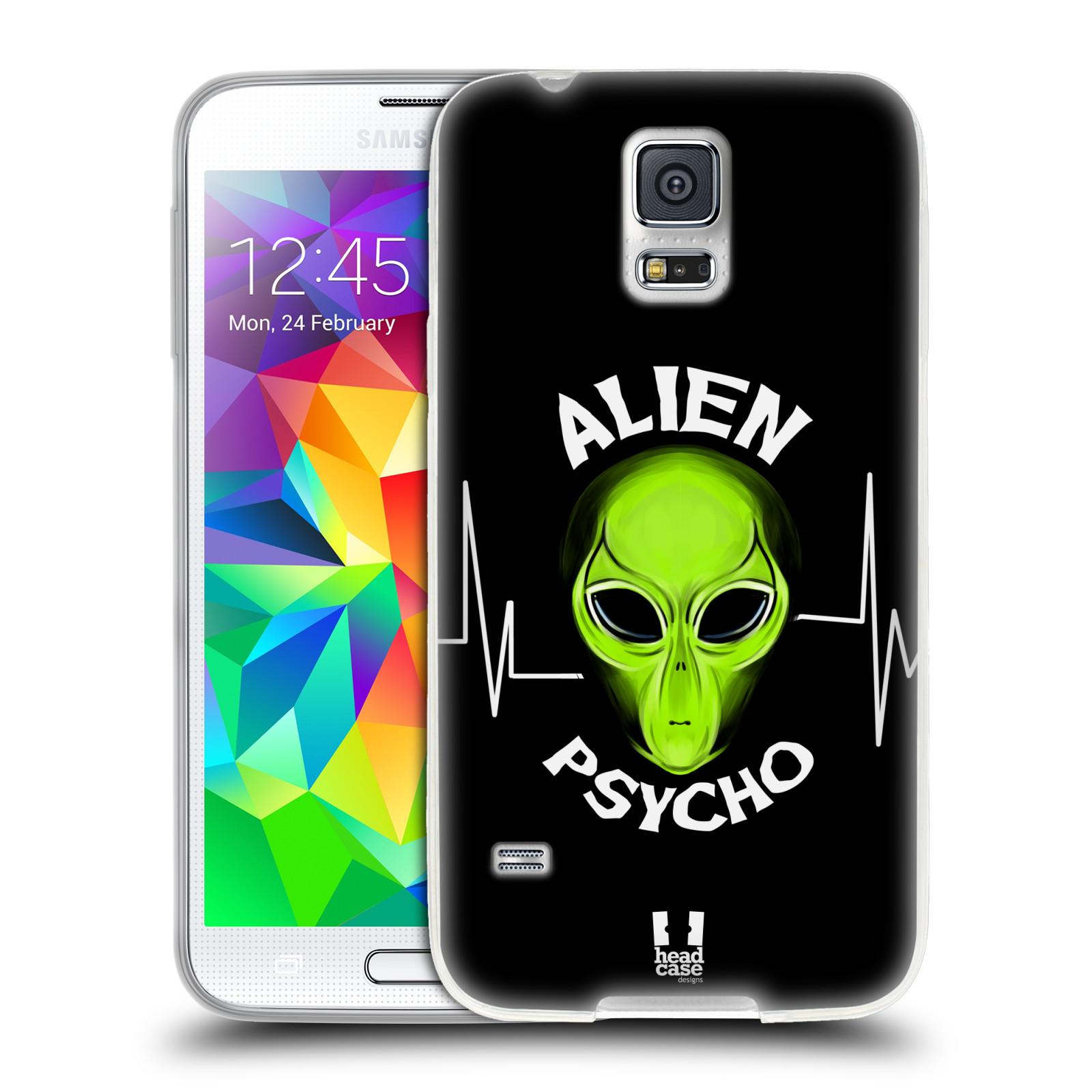 Silikonové pouzdro na mobil Samsung Galaxy S5 HEAD CASE ALIENS PSYCHO