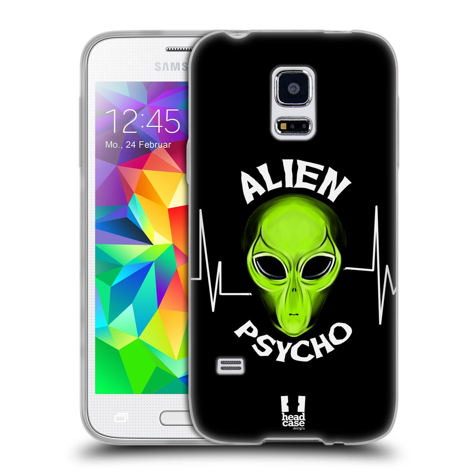 Silikonové pouzdro na mobil Samsung Galaxy S5 Mini HEAD CASE ALIENS PSYCHO