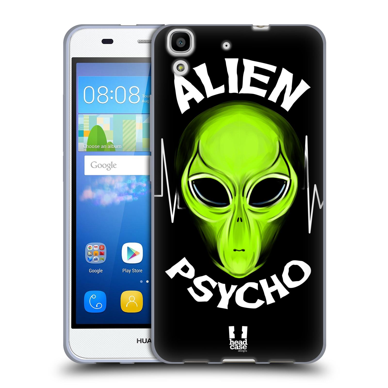 Silikonové pouzdro na mobil Huawei Y6 HEAD CASE ALIENS PSYCHO