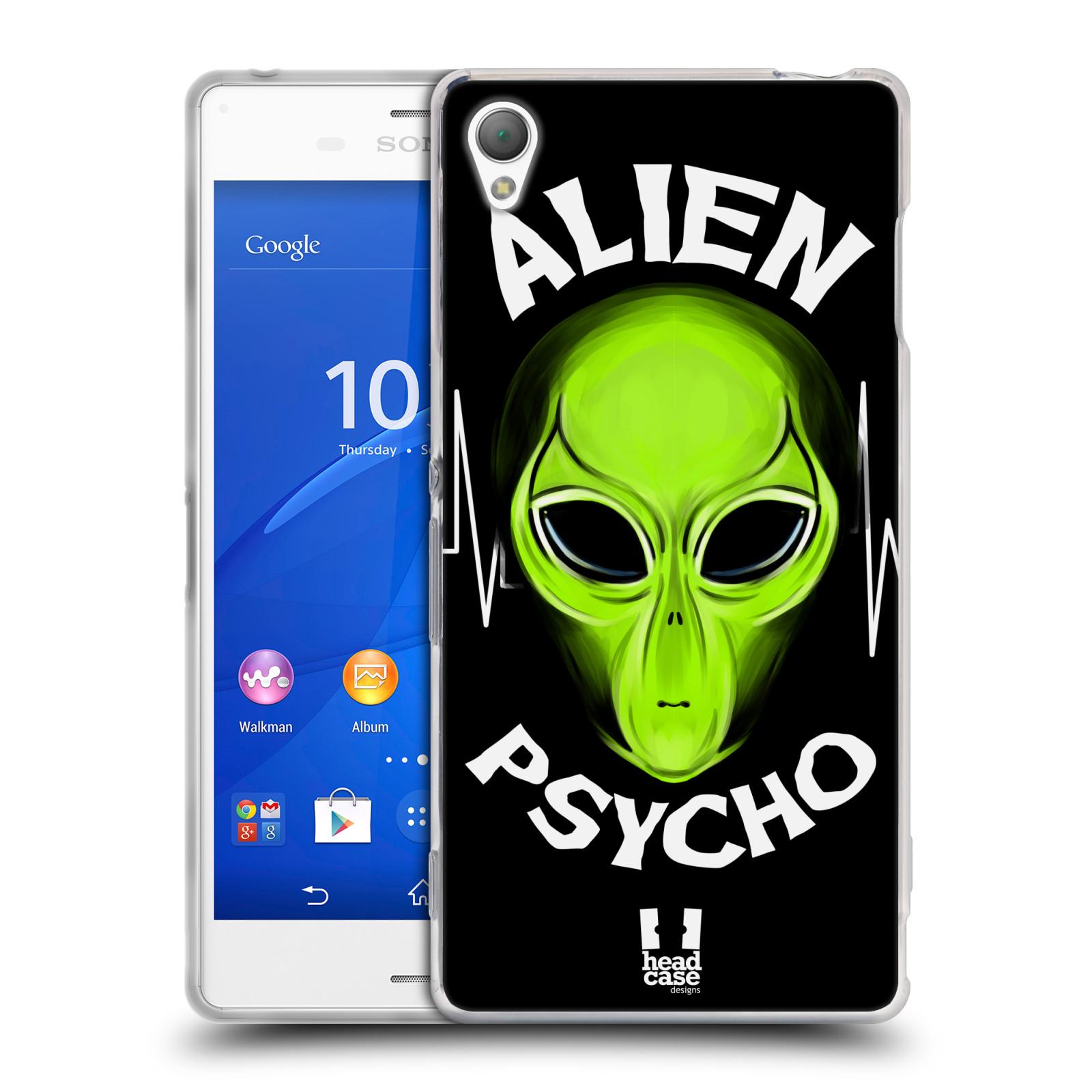 Silikonové pouzdro na mobil Sony Xperia Z3 D6603 HEAD CASE ALIENS PSYCHO