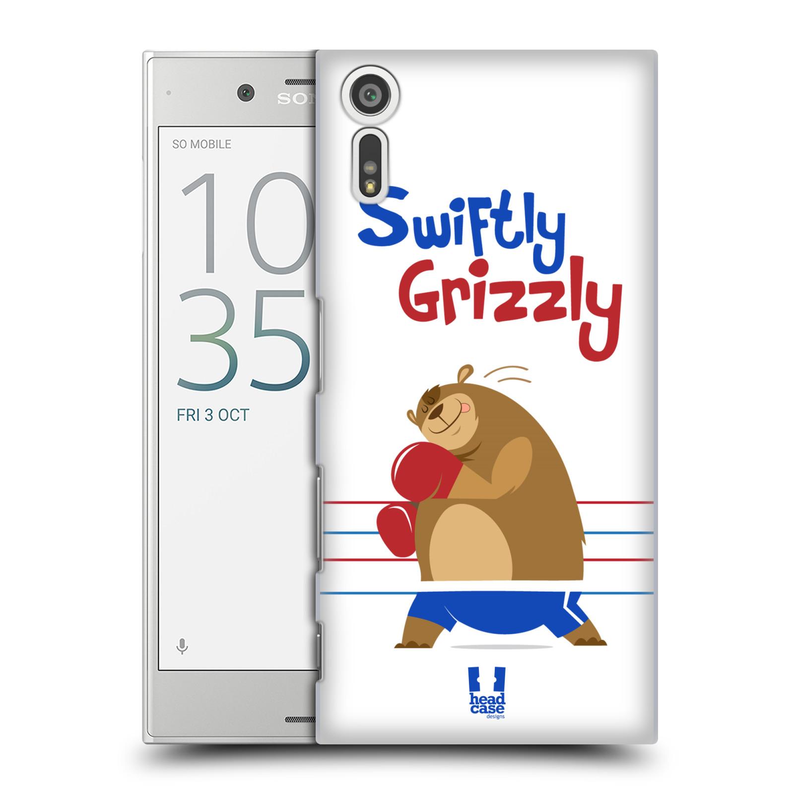 Plastové pouzdro na mobil Sony Xperia XZ - Head Case SPORTOVEC MEDVĚD