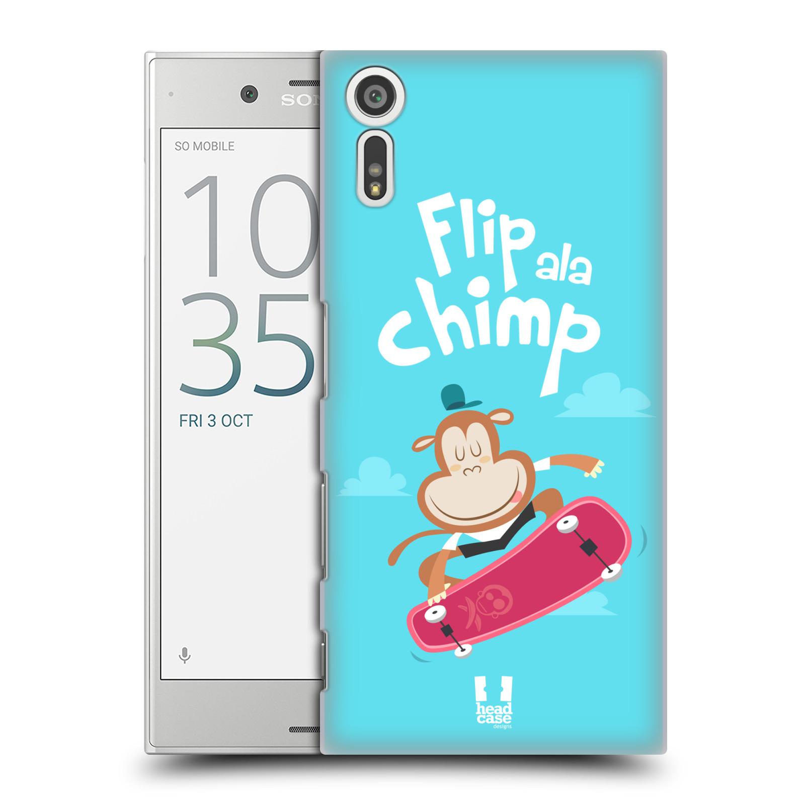 Plastové pouzdro na mobil Sony Xperia XZ - Head Case SPORTOVEC OPIČÁK