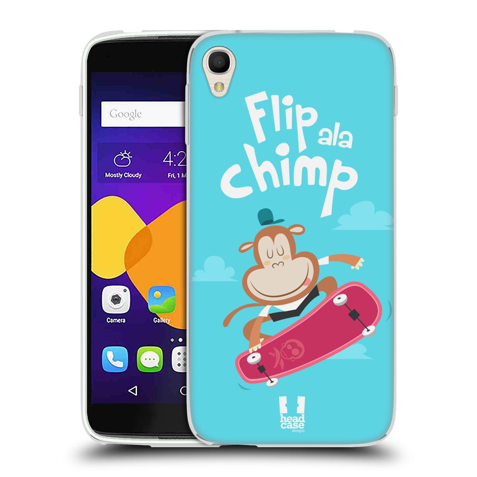 """Silikonové pouzdro na mobil Alcatel One Touch 6045Y Idol 3 HEAD CASE SPORTOVEC OPIČÁK (Silikonový kryt či obal na mobilní telefon Alcatel One Touch Idol 3 OT-6045Y s 5,5"""" displejem)"""
