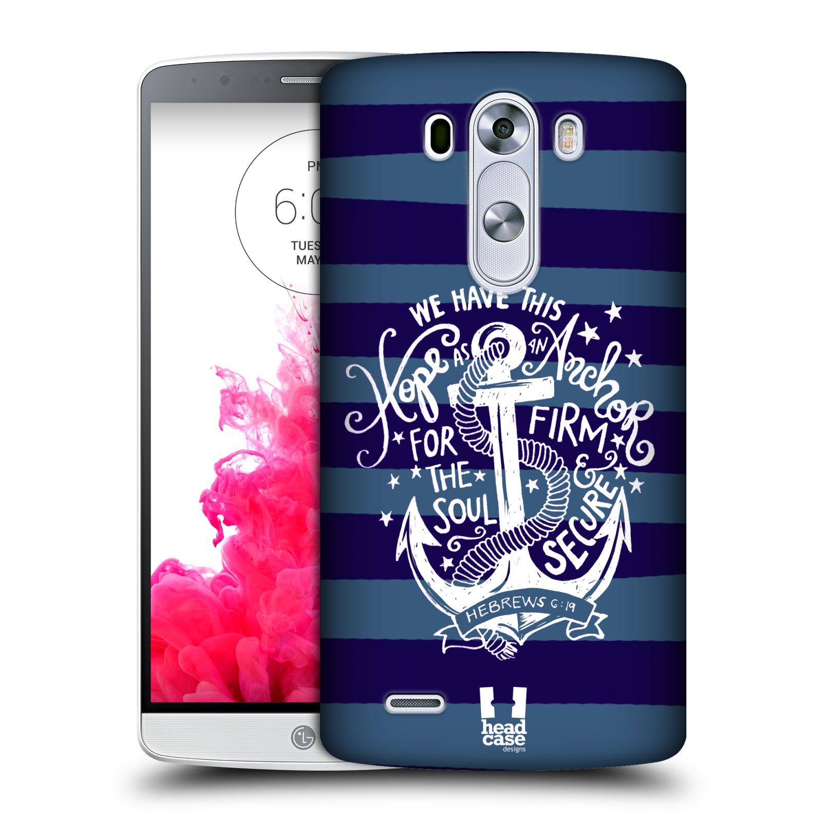 Plastové pouzdro na mobil LG G3 HEAD CASE KOTVA HOPE