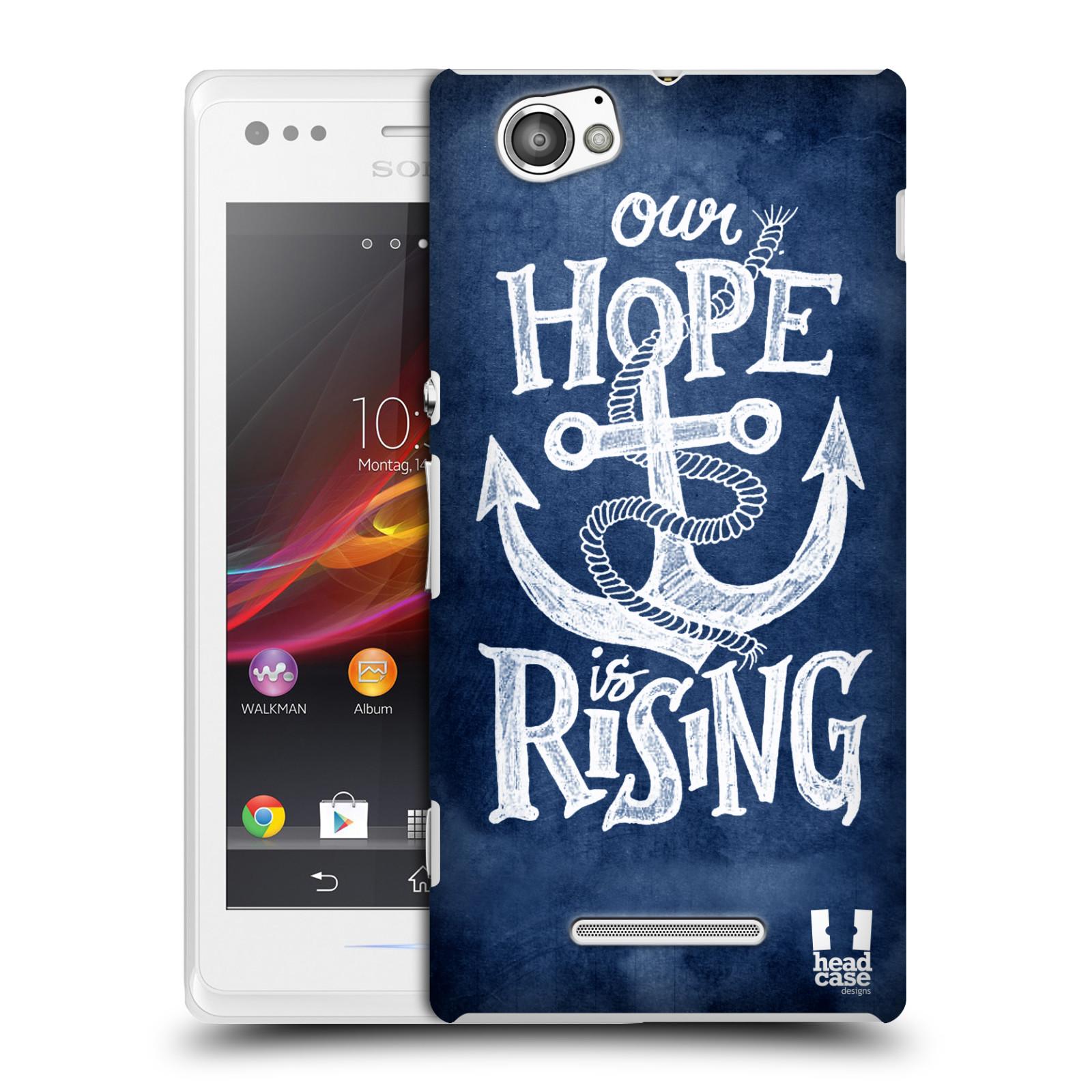 Plastové pouzdro na mobil Sony Xperia M C1905 HEAD CASE KOTVA RISING
