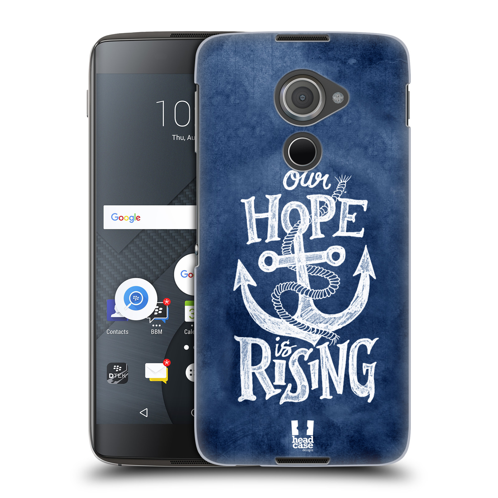 Plastové pouzdro na mobil Blackberry DTEK60 (Argon) - Head Case KOTVA RISING