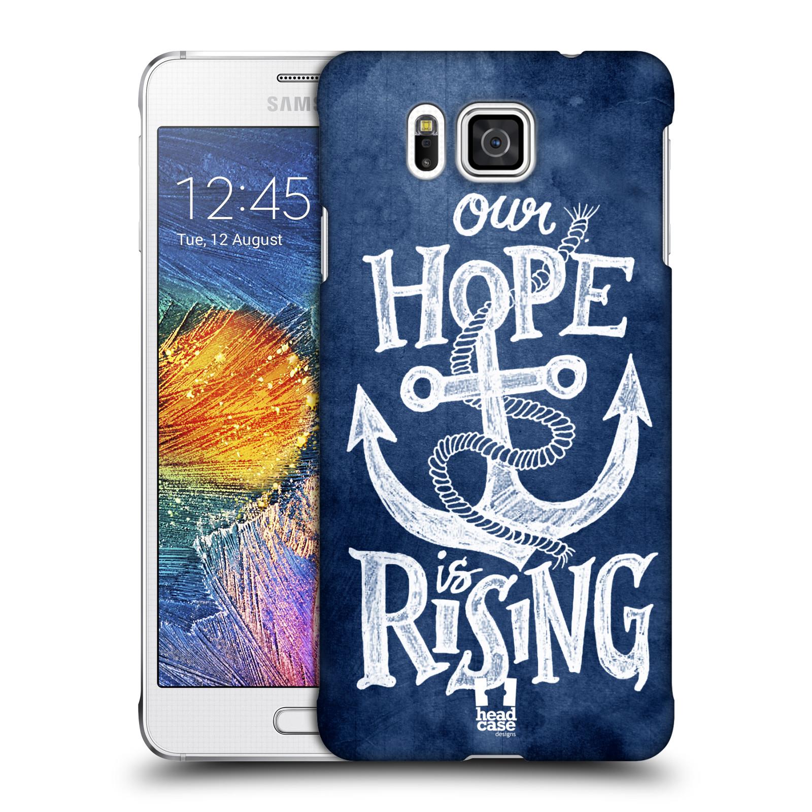 Plastové pouzdro na mobil Samsung Galaxy Alpha HEAD CASE KOTVA RISING