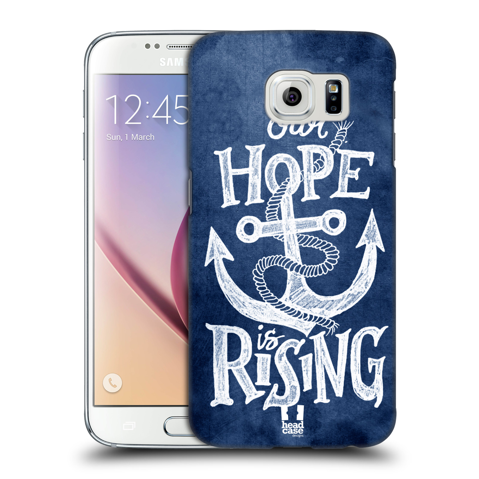 Plastové pouzdro na mobil Samsung Galaxy S6 HEAD CASE KOTVA RISING