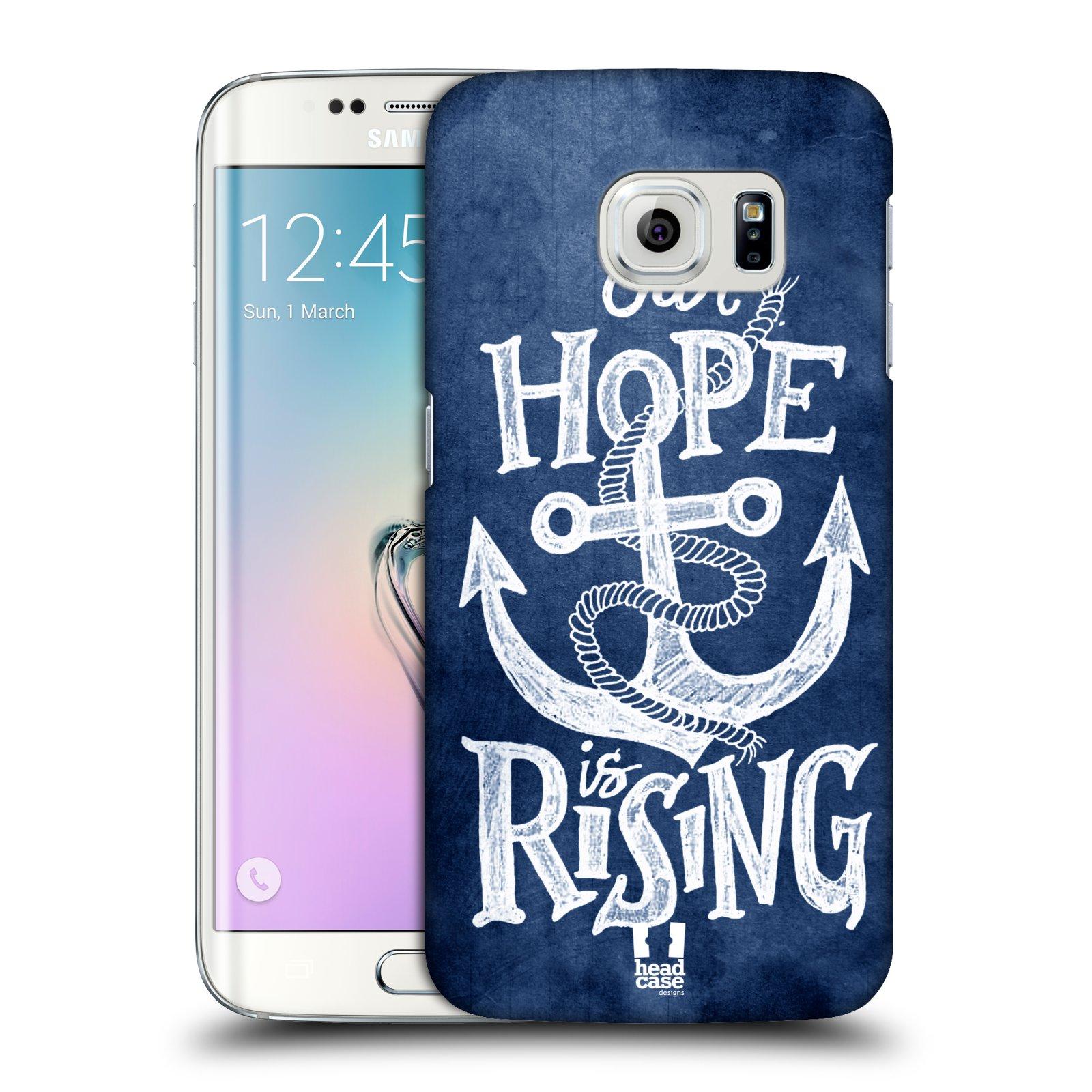 Plastové pouzdro na mobil Samsung Galaxy S6 Edge HEAD CASE KOTVA RISING