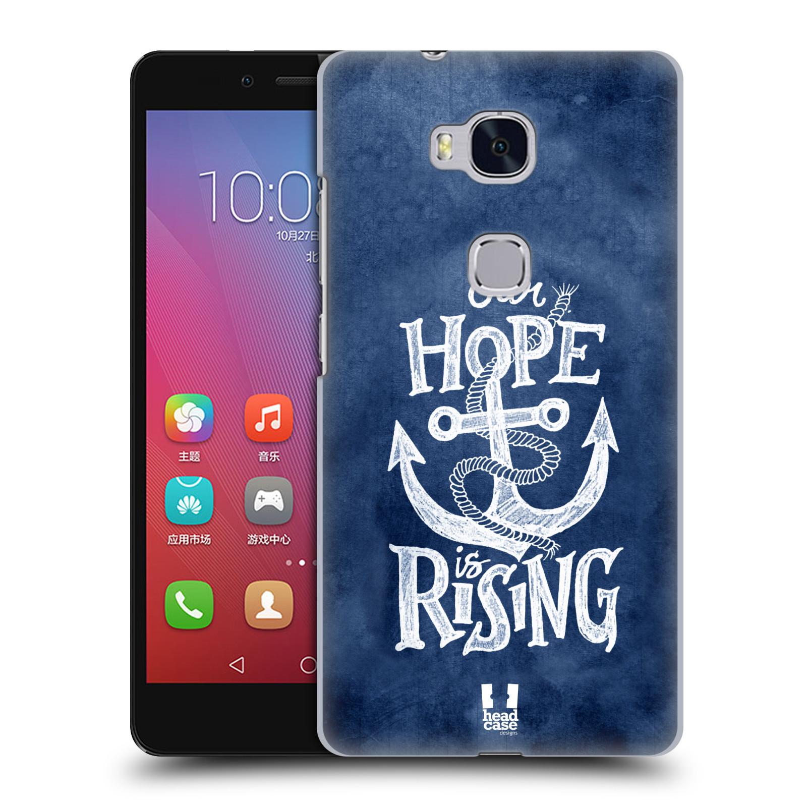 Plastové pouzdro na mobil Honor 5X HEAD CASE KOTVA RISING