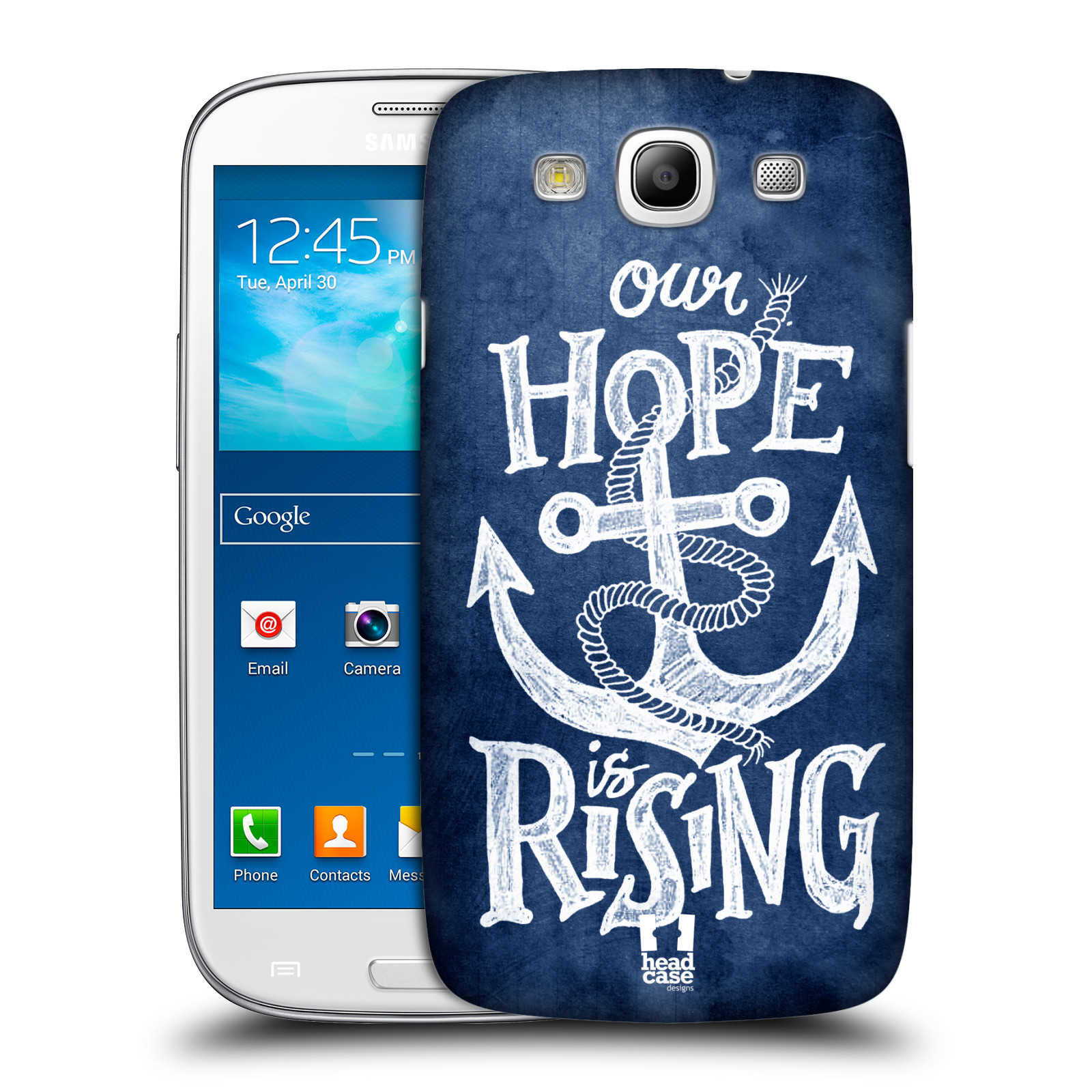 Plastové pouzdro na mobil Samsung Galaxy S III HEAD CASE KOTVA RISING
