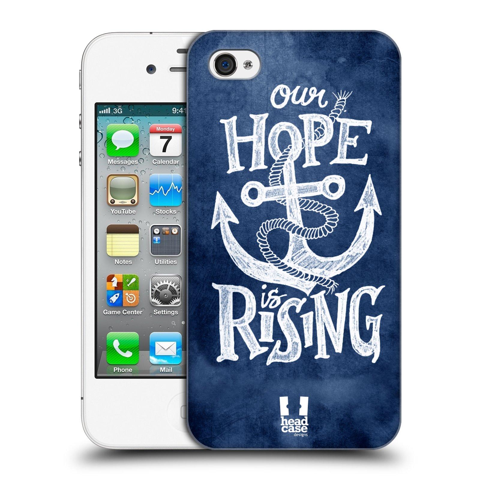 Plastové pouzdro na mobil Apple iPhone 4 a 4S HEAD CASE KOTVA RISING