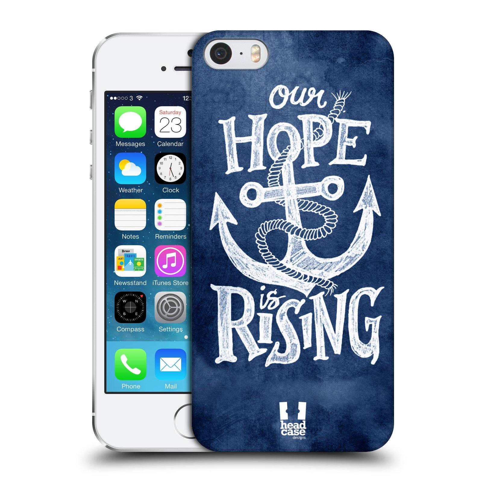 Plastové pouzdro na mobil Apple iPhone SE, 5 a 5S HEAD CASE KOTVA RISING