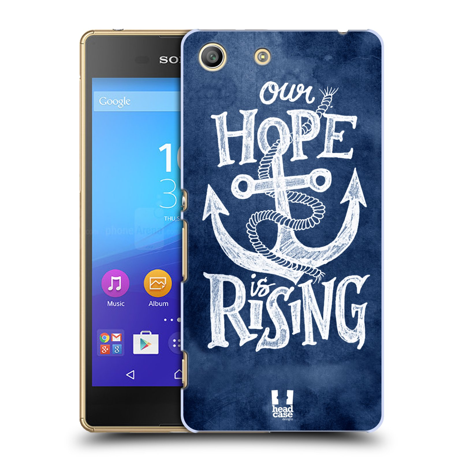 Plastové pouzdro na mobil Sony Xperia M5 HEAD CASE KOTVA RISING