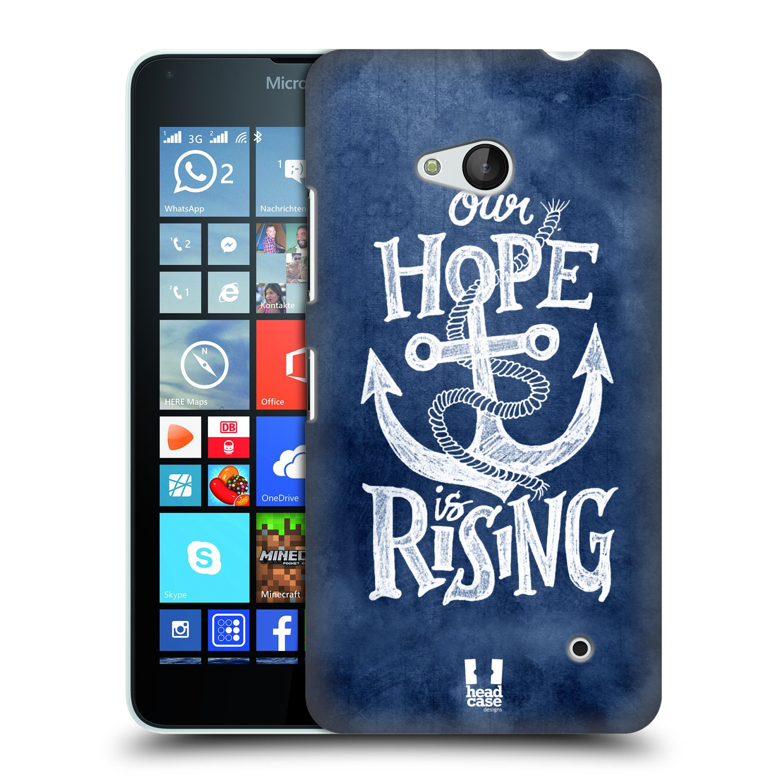 Plastové pouzdro na mobil Microsoft Lumia 640 HEAD CASE KOTVA RISING