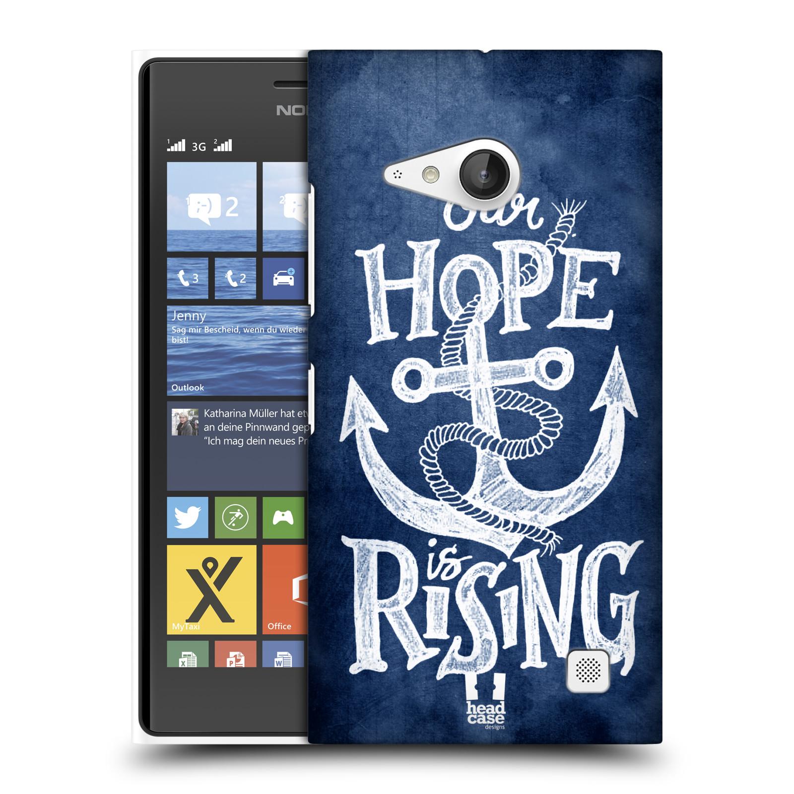 Plastové pouzdro na mobil Nokia Lumia 735 HEAD CASE KOTVA RISING