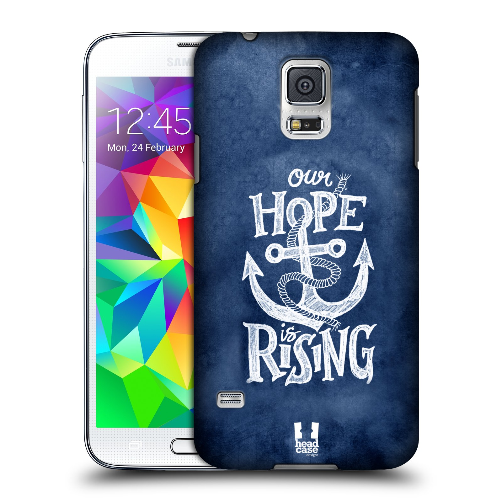 Plastové pouzdro na mobil Samsung Galaxy S5 HEAD CASE KOTVA RISING