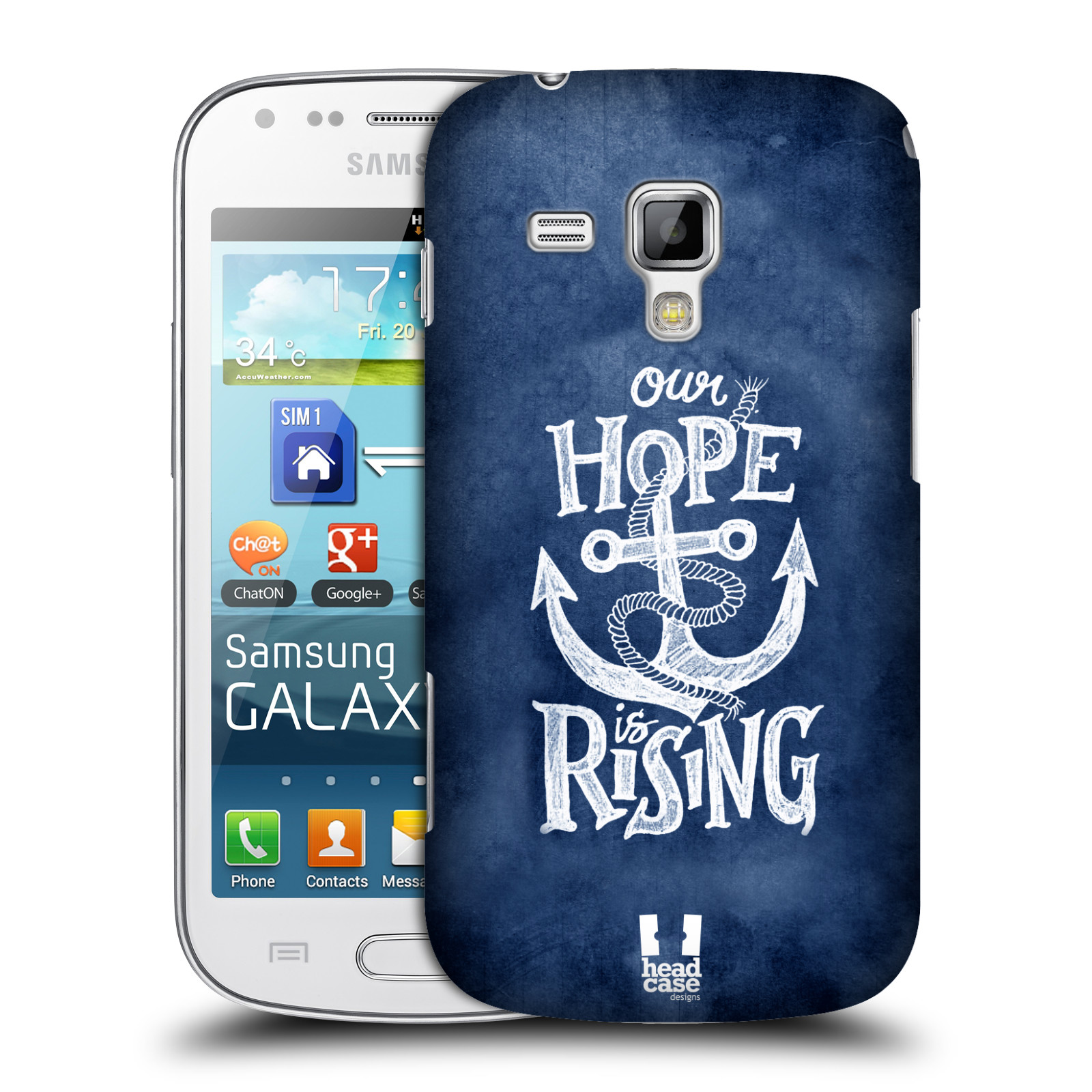 Plastové pouzdro na mobil Samsung Galaxy Trend Plus HEAD CASE KOTVA RISING