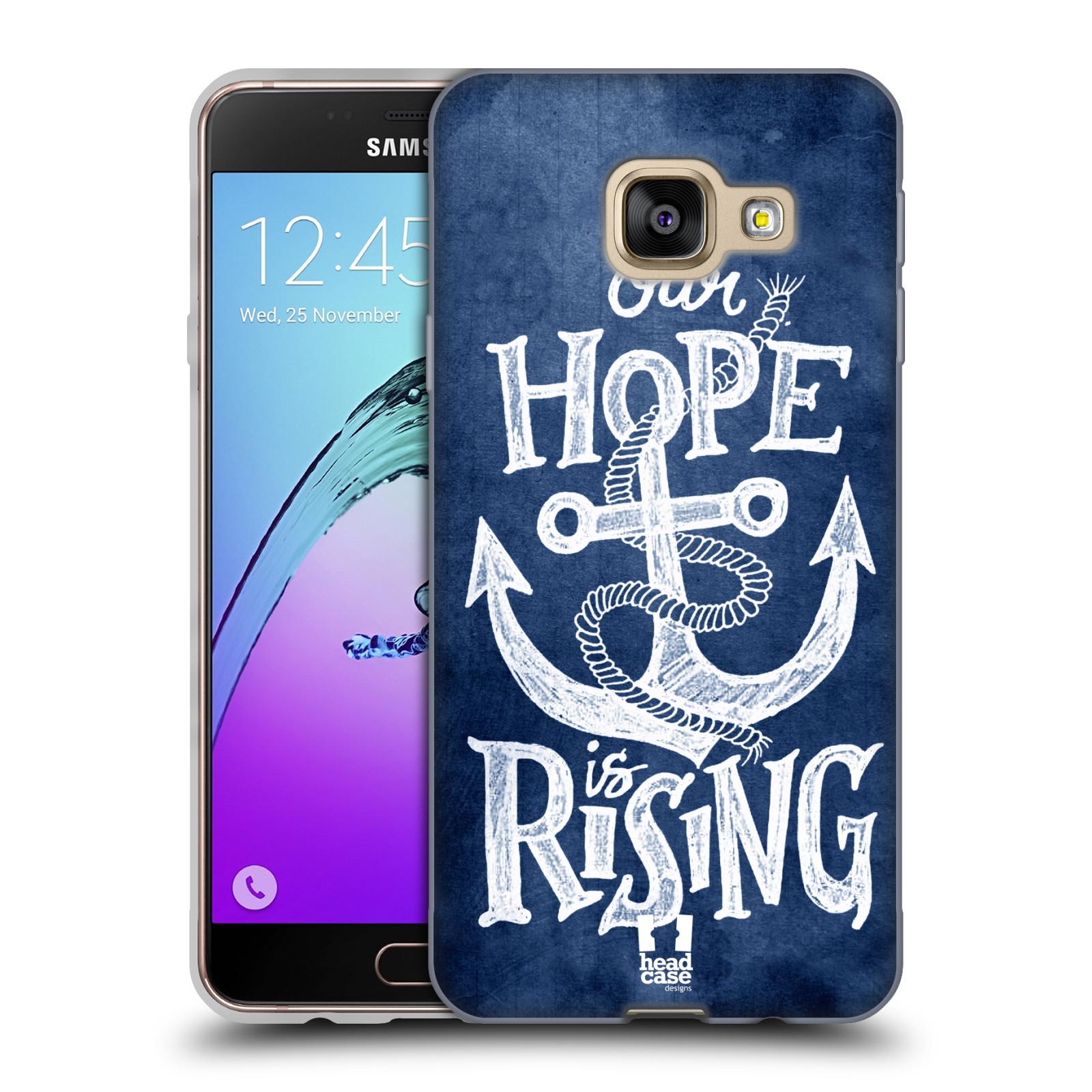 Silikonové pouzdro na mobil Samsung Galaxy A3 (2016) HEAD CASE KOTVA RISING