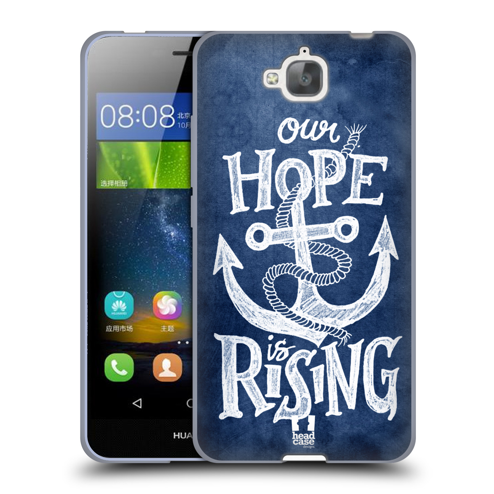 Silikonové pouzdro na mobil Huawei Y6 Pro Dual Sim HEAD CASE KOTVA RISING
