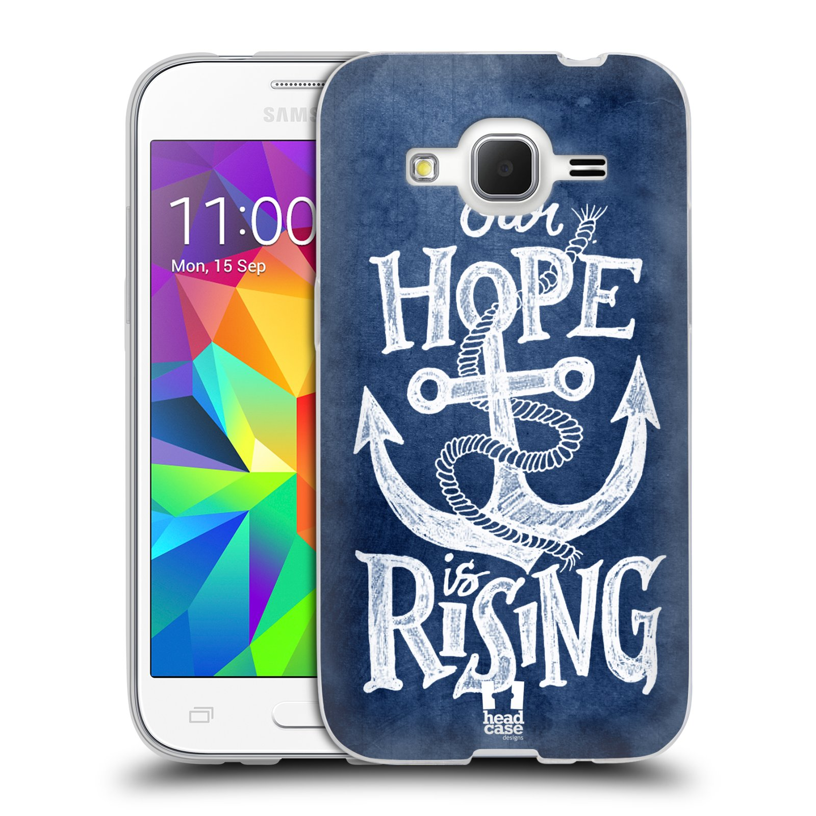 Silikonové pouzdro na mobil Samsung Galaxy Core Prime LTE HEAD CASE KOTVA RISING