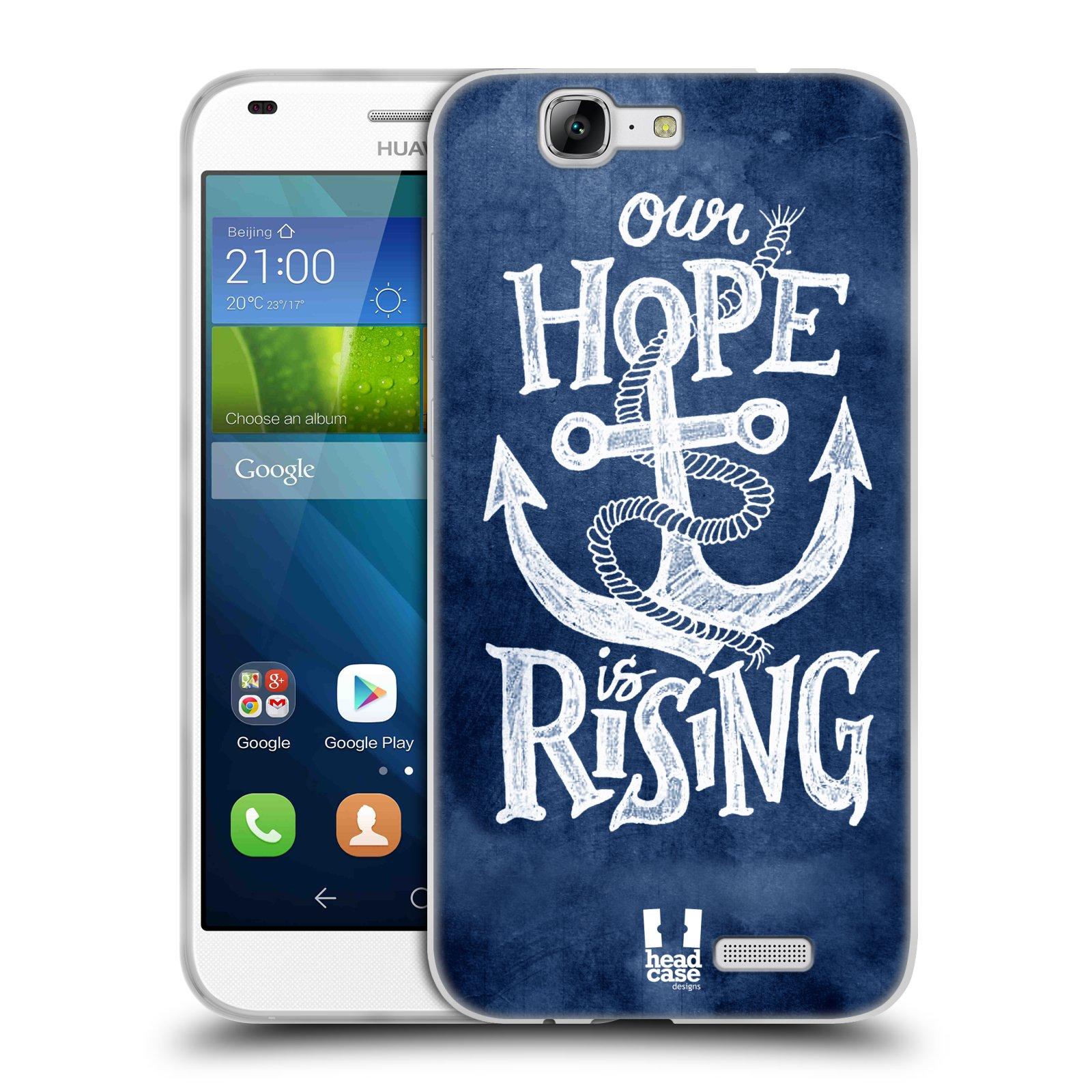 Silikonové pouzdro na mobil Huawei Ascend G7 HEAD CASE KOTVA RISING