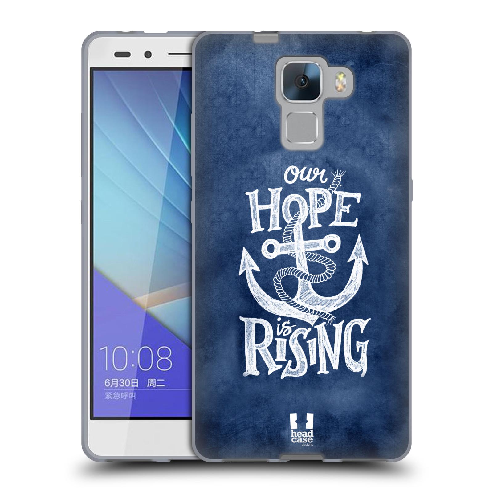 Silikonové pouzdro na mobil Honor 7 HEAD CASE KOTVA RISING
