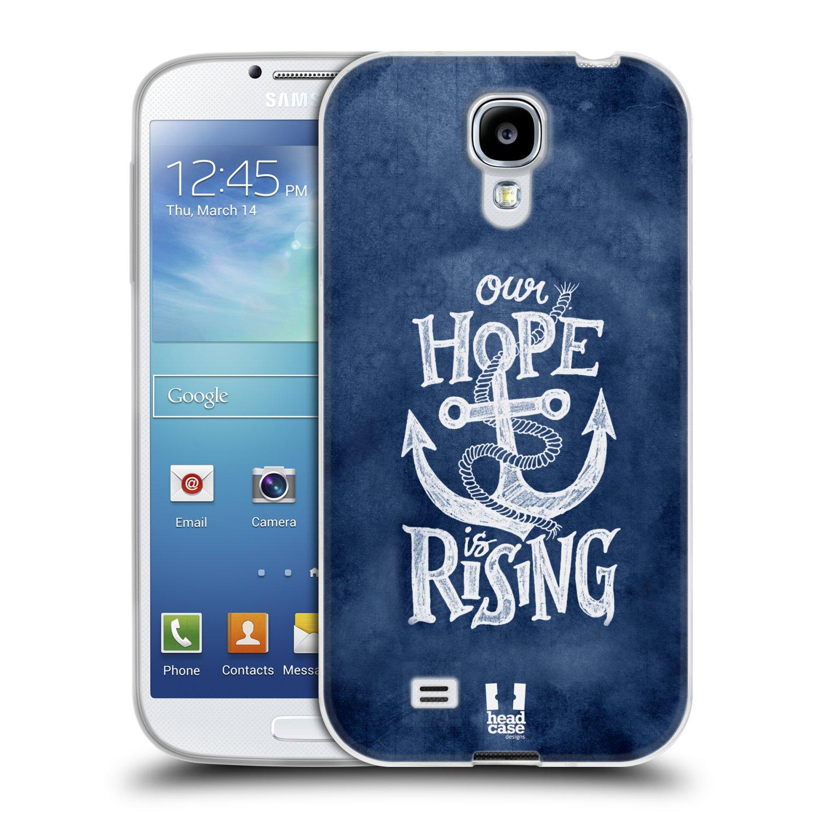 Silikonové pouzdro na mobil Samsung Galaxy S4 HEAD CASE KOTVA RISING (Silikonový kryt či obal na mobilní telefon Samsung Galaxy S4 GT-i9505 / i9500)