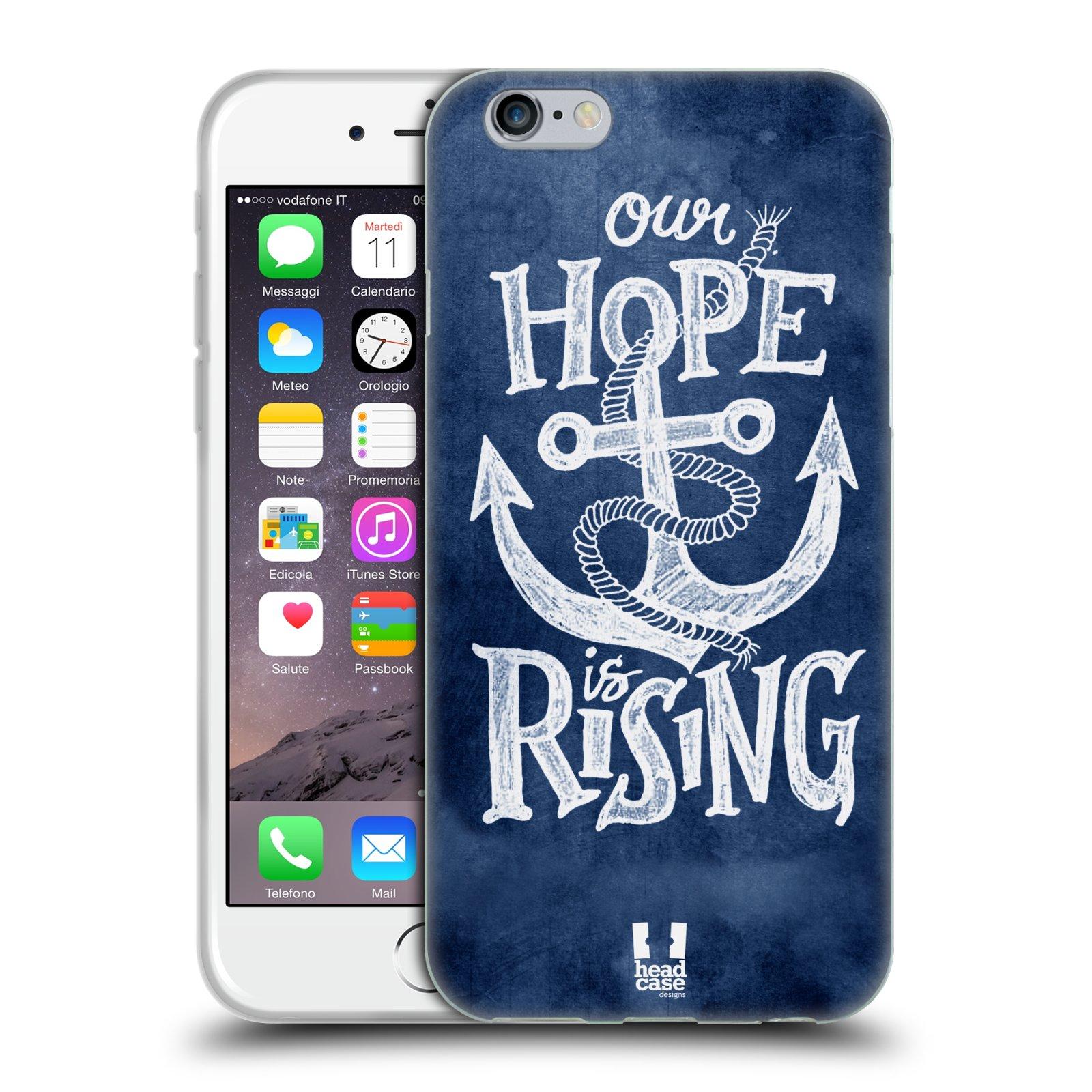 Silikonové pouzdro na mobil Apple iPhone 6 a 6S HEAD CASE KOTVA RISING