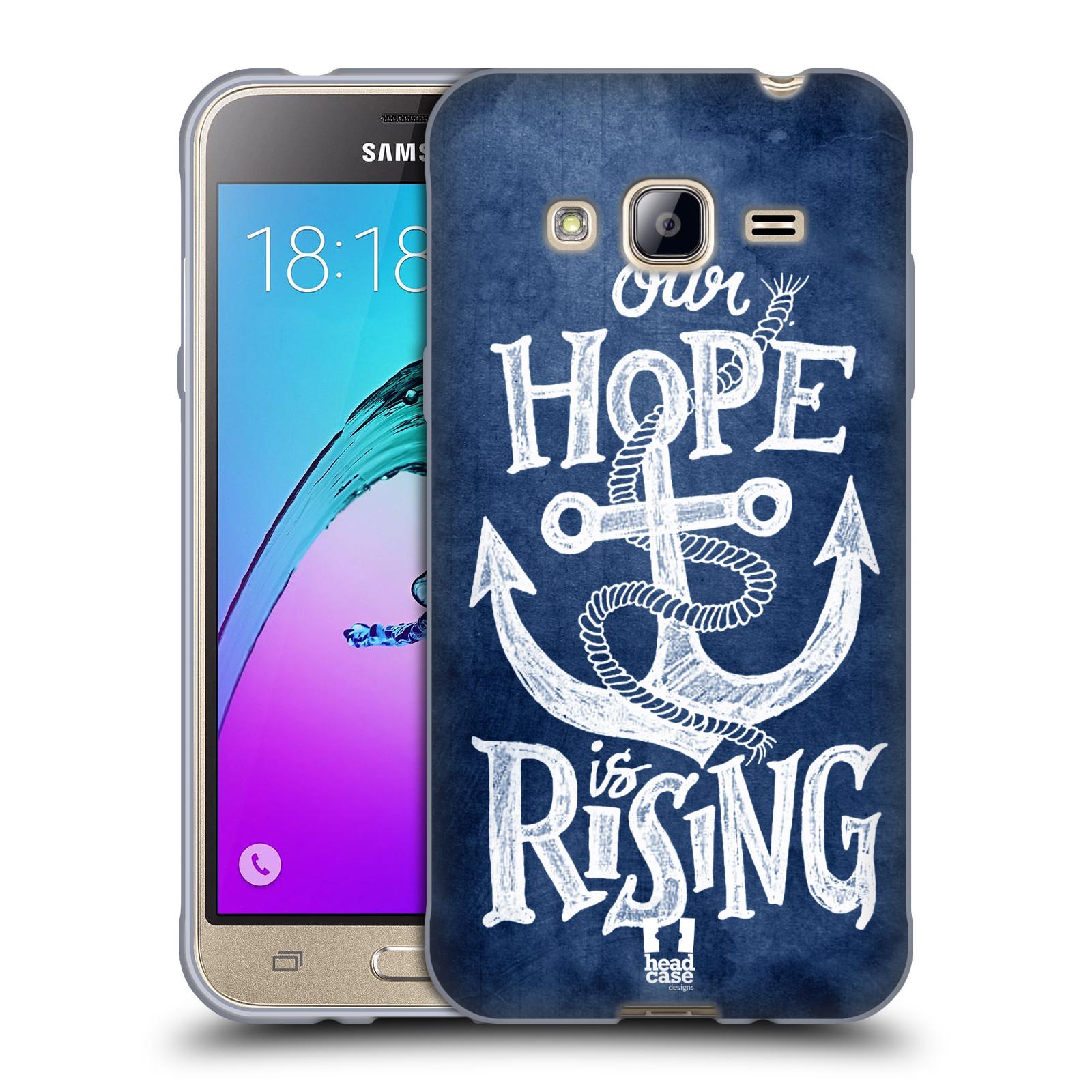 Silikonové pouzdro na mobil Samsung Galaxy J3 (2016) HEAD CASE KOTVA RISING