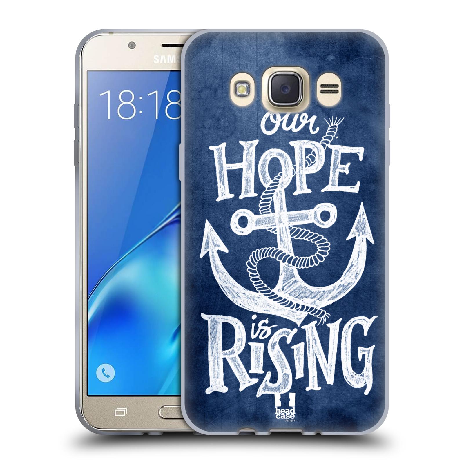 Silikonové pouzdro na mobil Samsung Galaxy J7 (2016) HEAD CASE KOTVA RISING