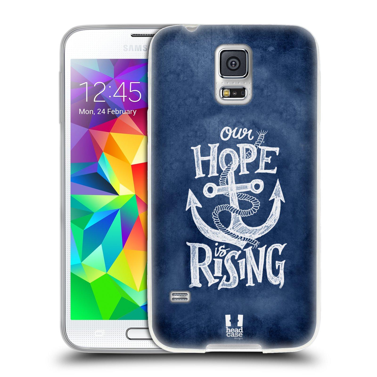 Silikonové pouzdro na mobil Samsung Galaxy S5 HEAD CASE KOTVA RISING