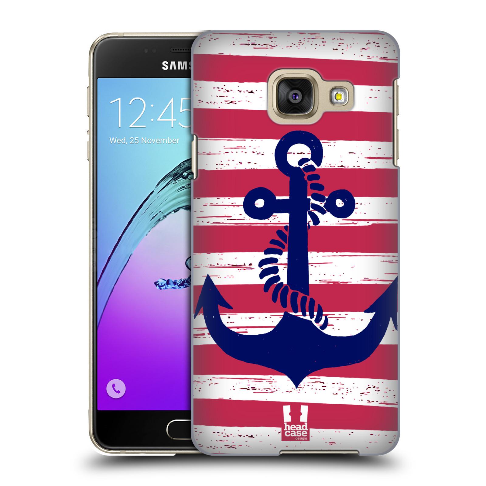 Plastové pouzdro na mobil Samsung Galaxy A3 (2016) HEAD CASE KOTVA S PRUHY