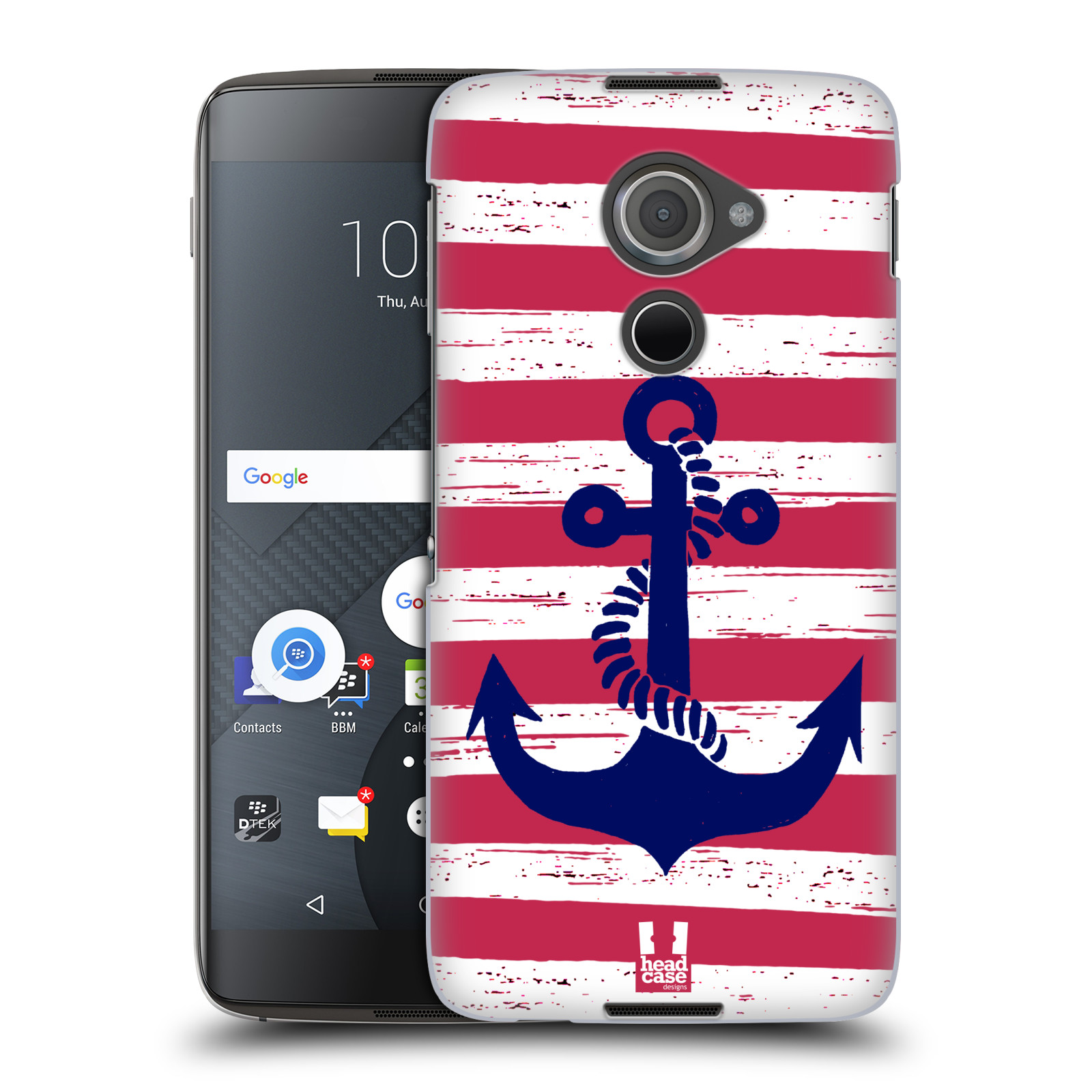 Plastové pouzdro na mobil Blackberry DTEK60 (Argon) - Head Case KOTVA S PRUHY