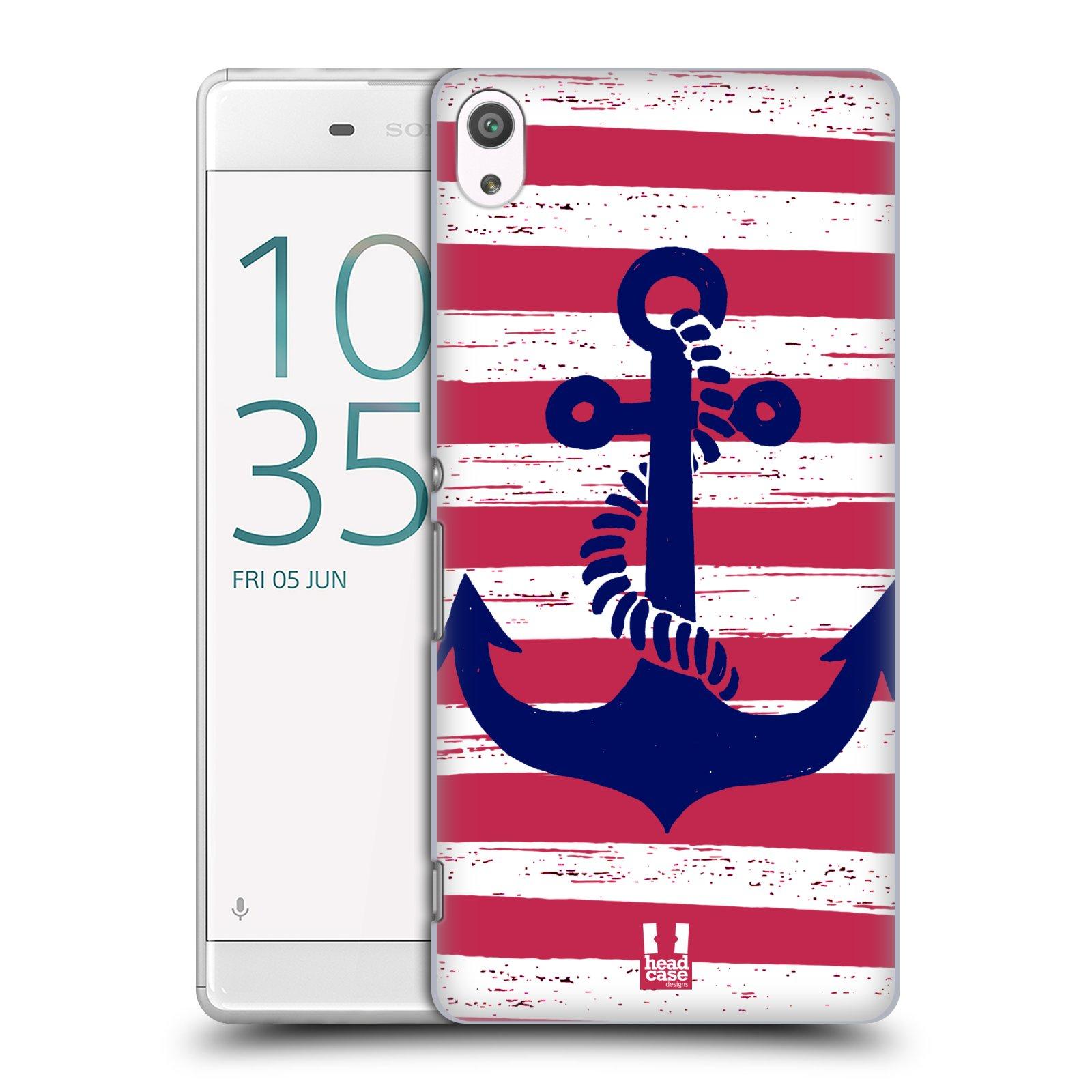 Plastové pouzdro na mobil Sony Xperia XA Ultra HEAD CASE KOTVA S PRUHY