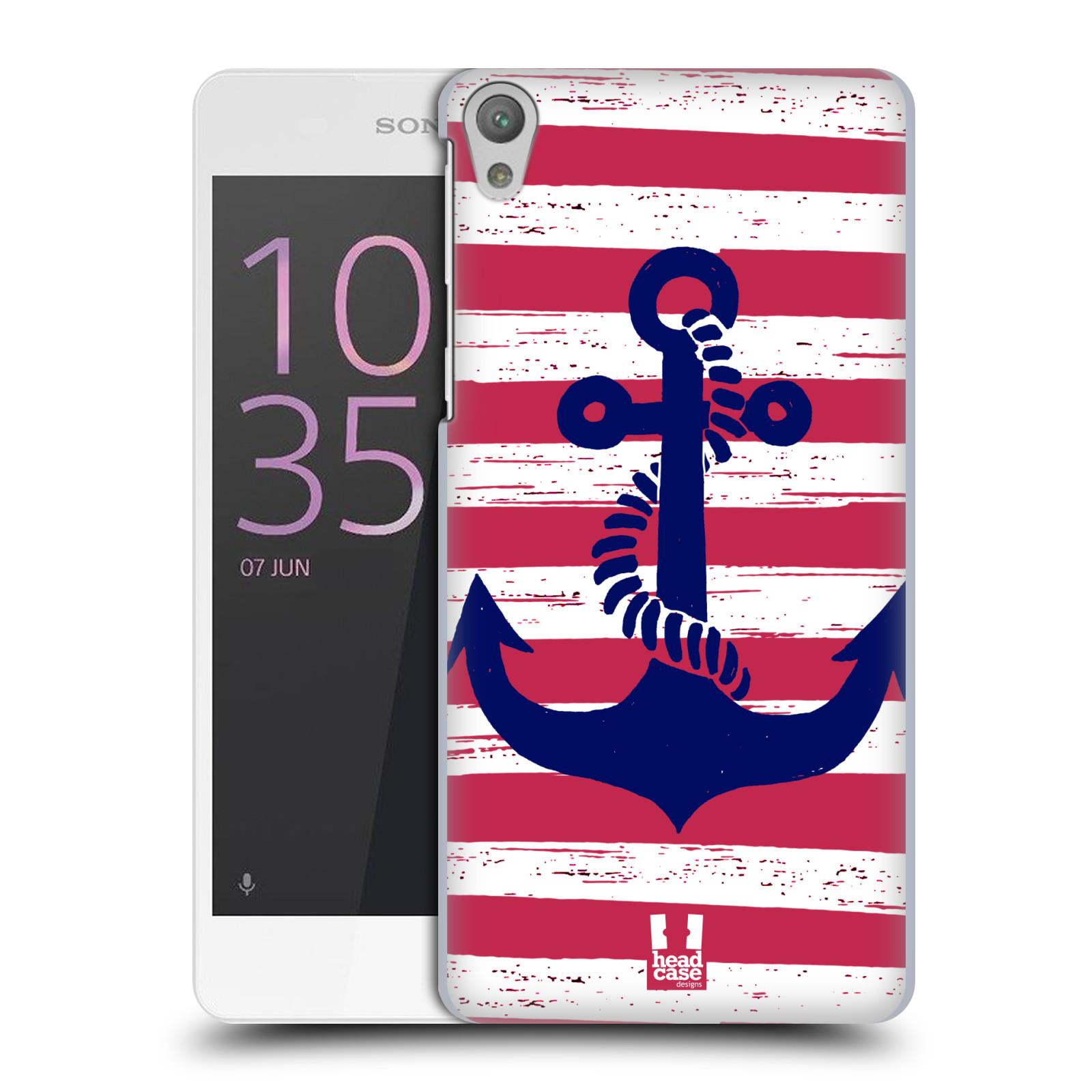 Plastové pouzdro na mobil Sony Xperia E5 HEAD CASE KOTVA S PRUHY